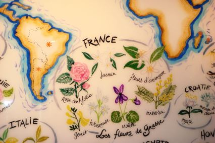 French parfume map