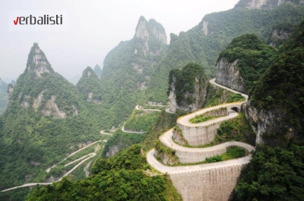 Tianmen Mountain Road, Hunan, China