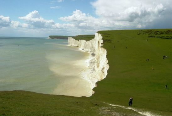Beachy Head and the Seven Sisters are famous for their bright white chalk cliffs