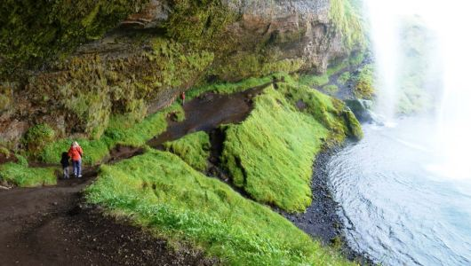 Seljalandsfoss, the foot path that loops behind the waterfall