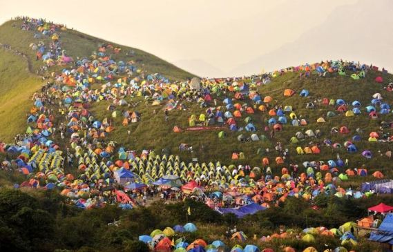 Camp festival in China
