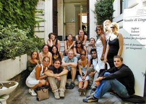 Italian language course in Rome, in front of the school Dilit, Verbalisti