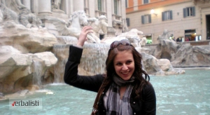 Verbalisti in front of the Trevi fountain, Rome