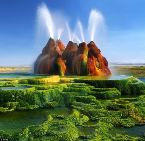 A man-made Fly Geyser