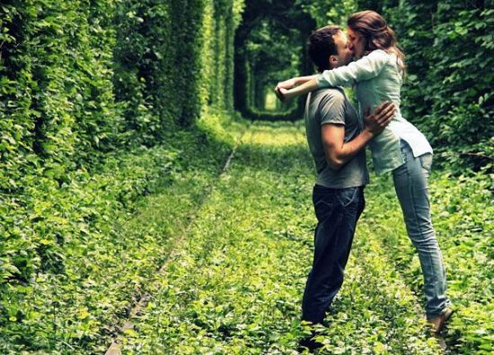 Tourist attractions, Tunnel of Love in Ukraine