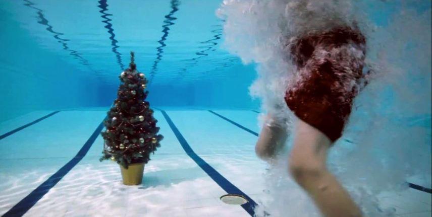 Spar Christmas tree advert and PR stunt