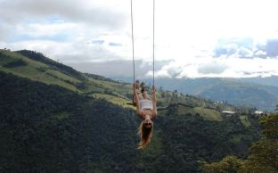 The famous swing in Ecuadorr