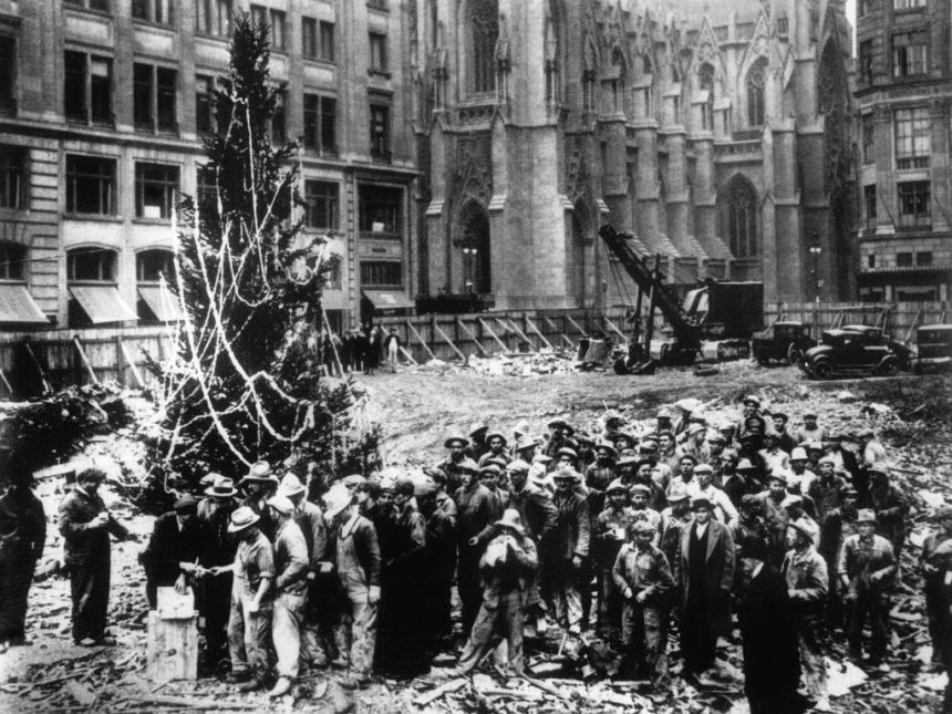 The First-Ever Christmas Tree At Rockefeller Center