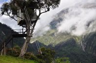 The swing in Banos, Ecuador