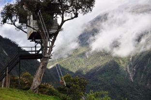 The swing in Banos, Ecuador