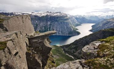 Trolltunga is a piece of rock that hangs out of the mountain