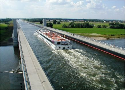 Magdeburg Water Bridge in Germany