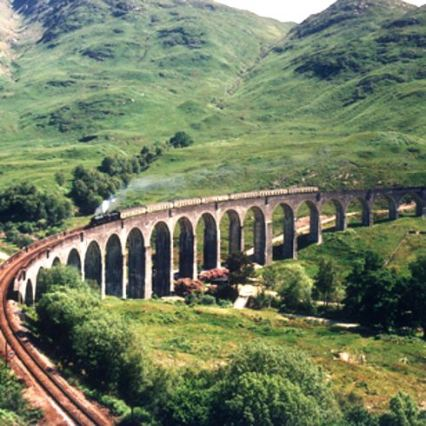 West Coast Railways run a Jacobite Steam Train during the summer on this track
