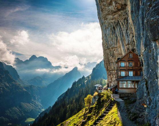 Äscher Cliff in Switzerland