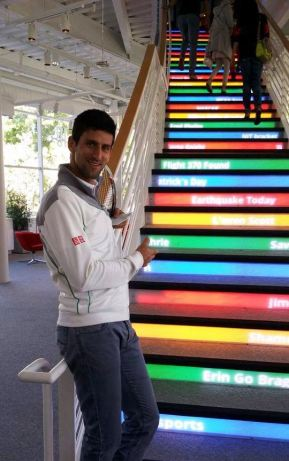Novak Djokovic visits Google