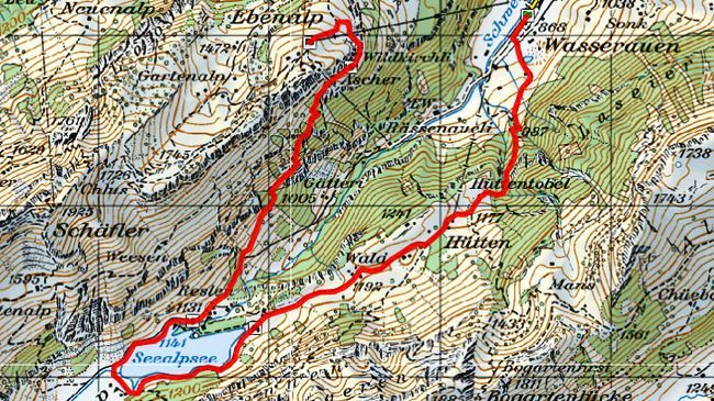 The challenging walk from Wasserauen up to the Ebenalp