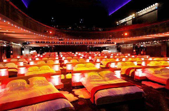 Catch A Movie In Bed At The Theater Language Travel At