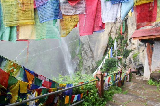 Buddhist Religious Flags, Taktsang, Bhutan