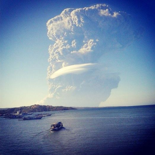 Volcano Sangeang Api Shoots Ash 12 Miles Into Stratosphere