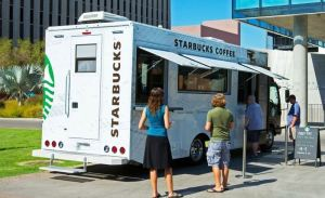 A Starbucks coffee truck like this one will begin visiting the US colleges