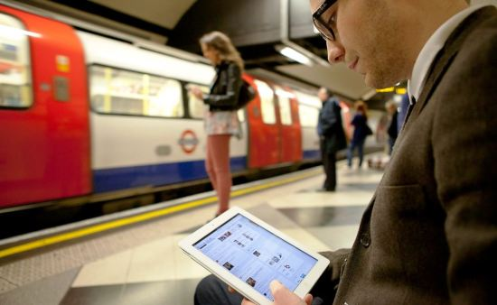 On New Year's Eve, 80,000 people used the WiFi network on the London Underground