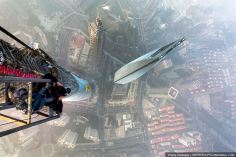 Urban climbers risk their lives to take these photos