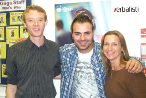 Verbalisti student Ivan Radenov with Kings Colleges staff