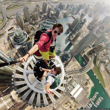 Climbing 414 meters high (a little over 1,350 feet), Remnev and his crew scaled the Princess Tower in Dubai