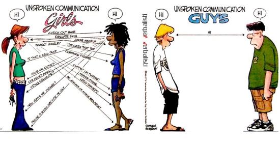 Nonverbal communication women vs men