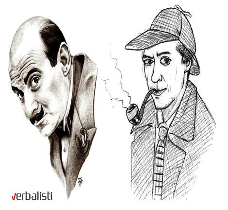 Hercule Poirot and Sherlock Holmes