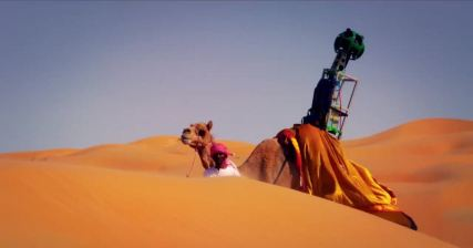 Google maps is using 360° cameras, strapped on camels' back