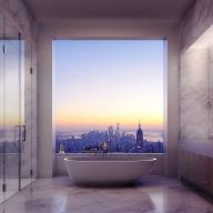 The tower at 432 Park Avenue, bathroom