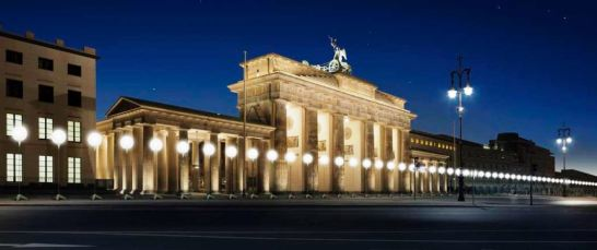 Berlin, border of lights, Brandenburg Gate