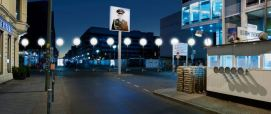 Border of lights - Checkpoint Charlie