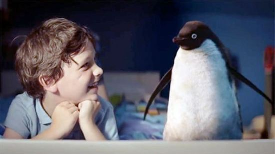 John Lewis Christmas TV advert with Monty The Penguin