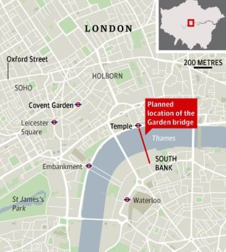 The Garden Bridge location
