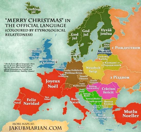 Merry Christmas in European languages