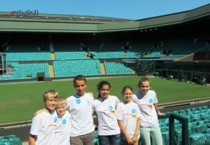 Excursion to Wimbledon, students from Bredfield College