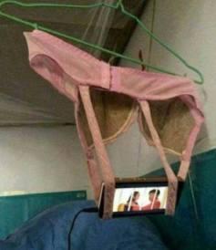 Innovation, mobile phone holder