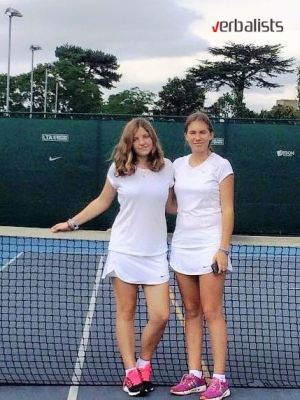 Mila Ivanov and Eva Alexandrova, Verbalists students and tennis players