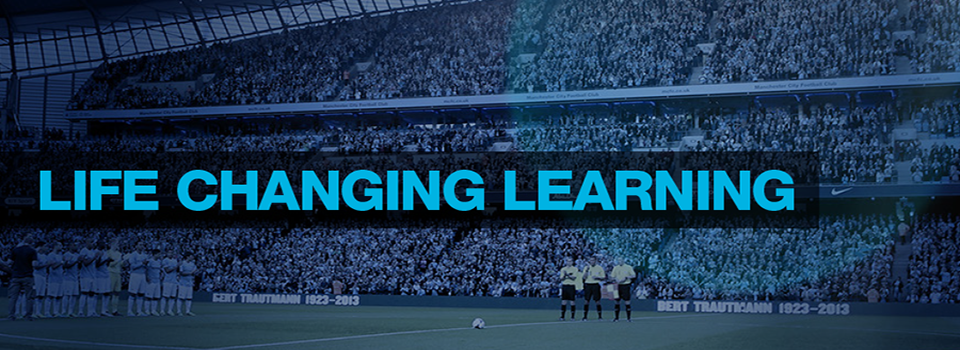 English language learning and soccer playing with Manchester City