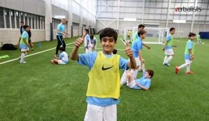 Excellent covered football facilities, Manchester City