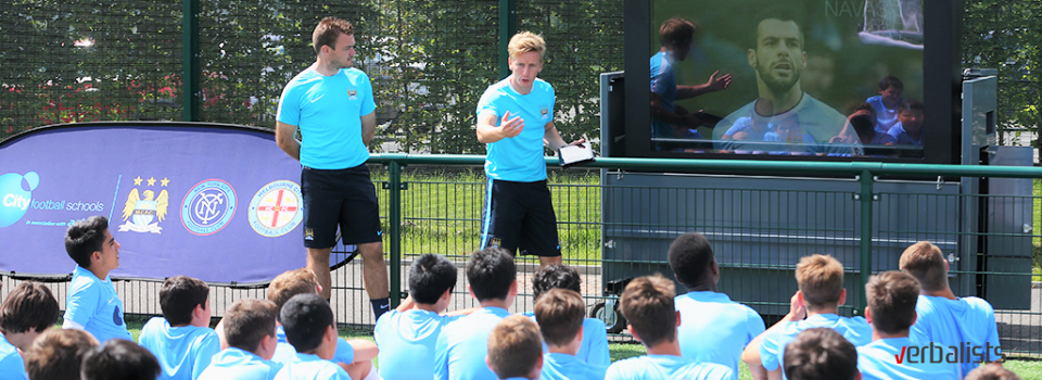 Life changing learning on and off the field, Manchester City Football Language Academy, Verbalists