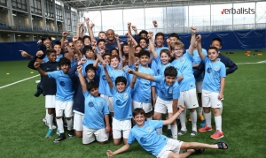 Making new friends from all over the world, Man City soccer and language school, Verbalists