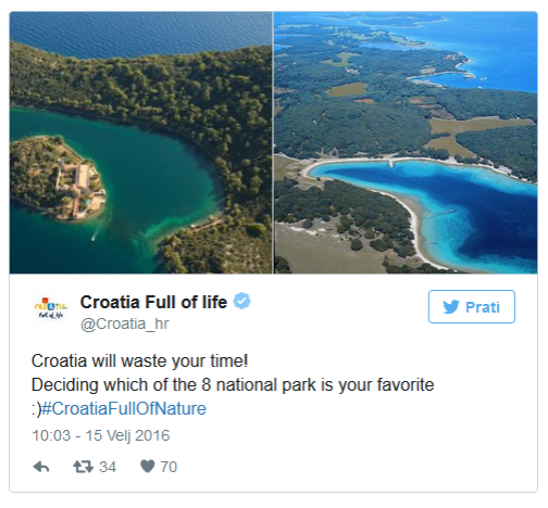 Social media campaign Croatia Full of Life