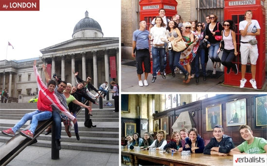 Language study abroad and Verbalists students in London