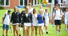 Nike tennis summer camps at Bradfield College with Verbalists Language Network
